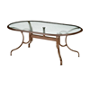 "Telescope 43"" x 75"" Oval Glass Table with Aluminum Frame"