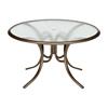 "Telescope 48"" Round Acrylic Table with Aluminum Frame"