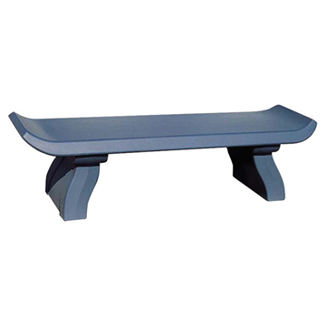 6 Ft. Commercial Capri Style Concrete Backless Bench