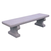 6 Ft. Commercial Wisconsin Concrete Backless Bench