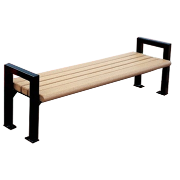 6 Ft. Mission Park Recycled Plastic Flat Backless Bench
