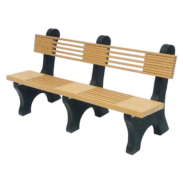 6 Ft. Park Place Recycled Plastic Bench