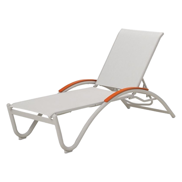 Helios Contract Sling Chaise Lounge Aluminum Frame Powder-Coated - 21 lbs.