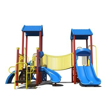 Building Bridges Playground Set Made From Commercial Grade Steel - Ages 5 To 12 Years
