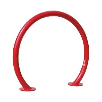 Horseshoe Style Bike Rack, Surface Mount Galvanized