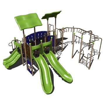 Expedition Playground Set Made From Commercial Grade Steel - Ages 5 To 12 Years