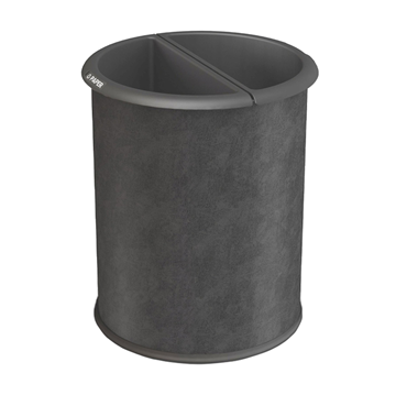 3.2 Gallon Precision Steel Round Waste Basket With Two Liners