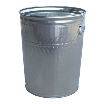 32 Gallon 23 Gauge Galvanized Steel Trash Can W/ Flat Top Lid
