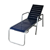 Destin Vinyl Strap Commercial Stack Chaise Lounge Powder-Coated Welded