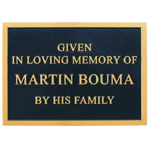 Memorial Plaque For Benches With Customized Engraving