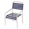 St. Lucia Vinyl Strap Dining Chair - Commercial Aluminum Frame