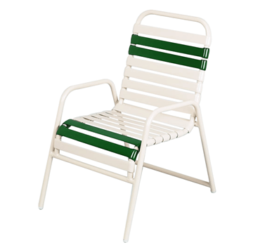 Daytona Vinyl Strap Commercial Chair Powder-Coated Aluminum Stackable