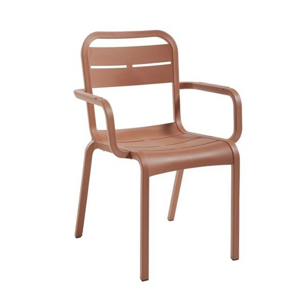 Cannes Stackable Dining Armchair with Reinforced Frame - 10 lbs.