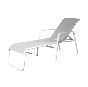 Doral Sling Commercial Stack Lounge Powder-Coated Welded Aluminum