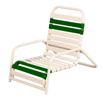 Daytona Vinyl Strap Commercial Sand Chair Powder-Coated Aluminum Frame