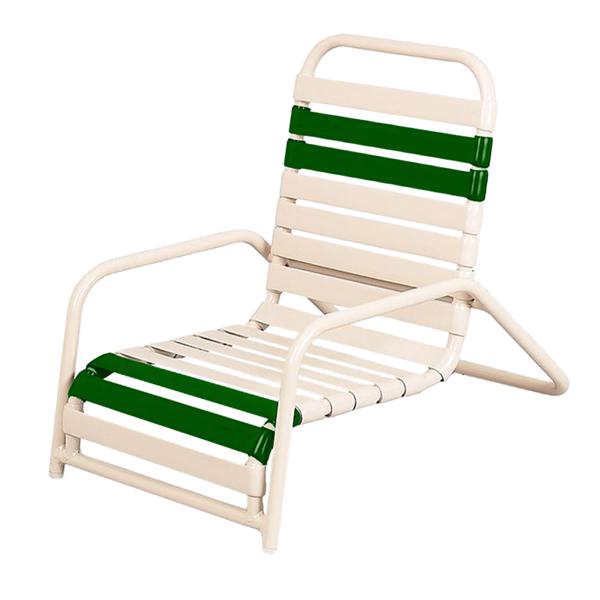 Daytona Vinyl Strap Commercial Sand Chair Powder-Coated Aluminum Frame