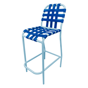 Daytona Cross Weave Vinyl Strap Commercial Bar Stool