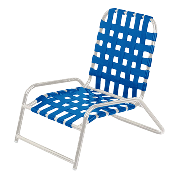 Daytona Vinyl Strap Cross Weave Commercial Sand Chair