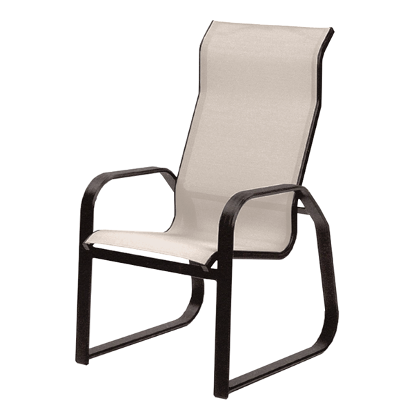 Maya Sling Supreme Sled Dining Chair with Powder-Coated Aluminum Frame - 15 lbs.