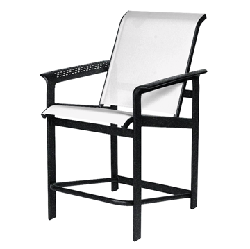 South Beach Sling Gathering Chair with Powder-Coated Aluminum Frame - 20 lbs.