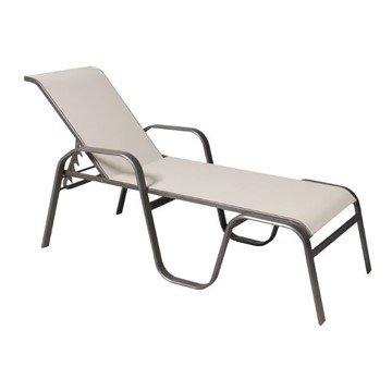 Maya Sling Chaise Lounge with Powder-Coated Aluminum Frame - 35 lbs.