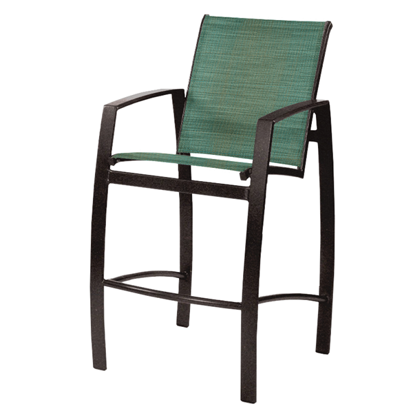 Vision Sling Barstool with Powder-Coated Aluminum Frame - 18 lbs.