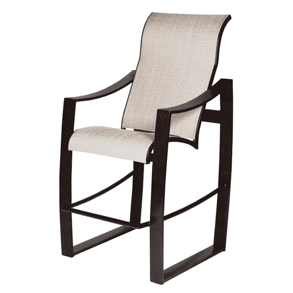 Pinnacle Sling Supreme Barstool with Powder-Coated Aluminum Frame - 21 lbs.