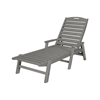 Nautical Recycled Plastic Chaise Lounge From Polywood