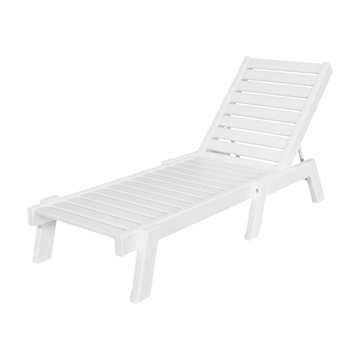 Captain Recycled Plastic Armless Chaise Lounge From Polywood