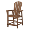 South Beach Adirondack Recycled Plastic Patio Counter Chair From Polywood
