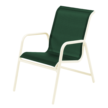 Neptune Dining Chair - Commercial Aluminum Frame with Sling Fabric