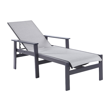 Sienna Sling Chaise Lounge With Marine Grade Polymer Frame