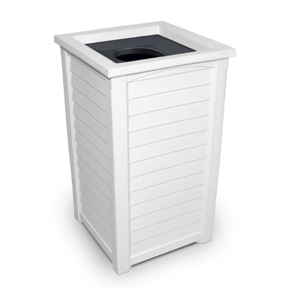 22.5-Gallon Lakeland Commercial Waste Receptacle with Liner and Lid - 38 lbs.