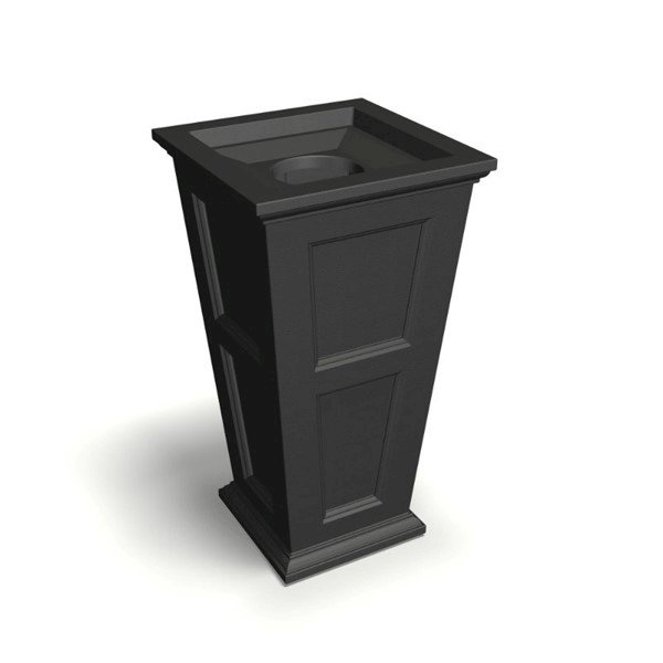 """24-Gallon Commercial 40"""" Fairfield Waste Receptacle with Removable Lid and Plastic Liner - 39 lbs."""