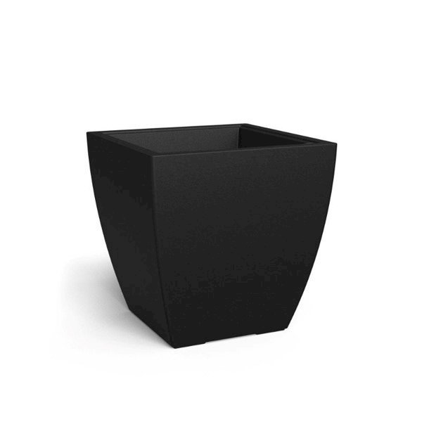 """24"""" x 24"""" Square Kobi Commercial Planter with Reservoir and Overfill System - 22 lbs."""
