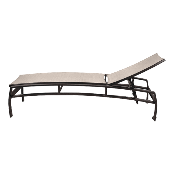 Pinnacle Sling Chaise Lounge with Wheels and Aluminum Frame - 45 lbs.