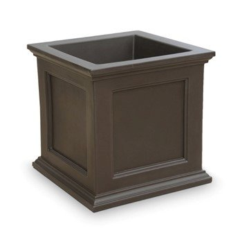 "Fairfield Commercial Square 28"" x 28"" Planter with Impact-Resistant Frame - 45 lbs."