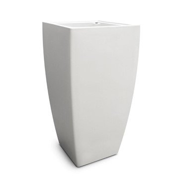 "Kobi 32"" or 38"" Tall Planters with Impact-Resistant Polyethylene Frame with UV-Inhibitors"
