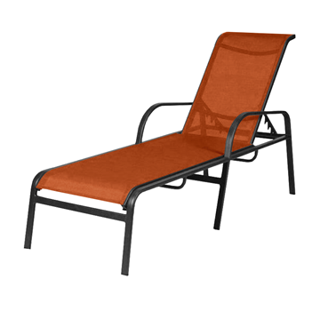 Ocean Breeze Chaise Lounge - Commercial Aluminum Frame With Sling Fabric