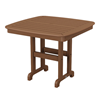 "37"" Square Nautical Recycled Plastic Dining Table From Polywood"