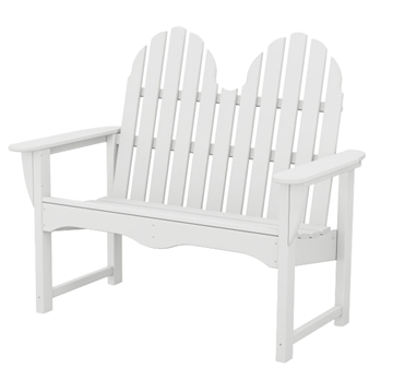 Adirondack Recycled Plastic Bench from Polywood