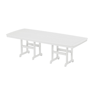 "96"" x 43"" Rectangular Nautical Recycled Plastic Dining Table from Polywood"