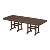 """96"""" x 43"""" Rectangular Nautical Recycled Plastic Dining Table from Polywood"""