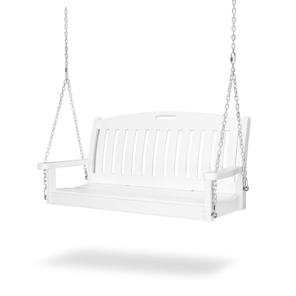 Nautical Recycled Plastic Porch Bench Swing From Polywood With Chain Kit