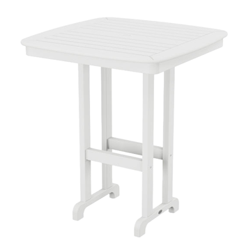 "37"" Square Nautical Recycled Plastic Bar Table From Polywood"