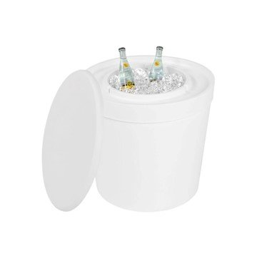 Ledge Lounger Signature Plastic Resin Side Table with Built-in Ice Bin - 18 lbs.