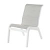Malibu Sling Dining Armless Chair With Marine Grade Polymer Frame