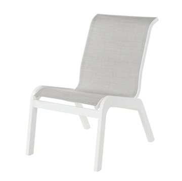 Malibu Sling Dining Armless Chair With Marine Grade Polymer Frame