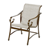 Tradewind Dining Chair - Commercial Aluminum Frame With Sling Fabric