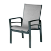 Skyway Sling Dining Arm Chair With Powder Coated Aluminum Frame